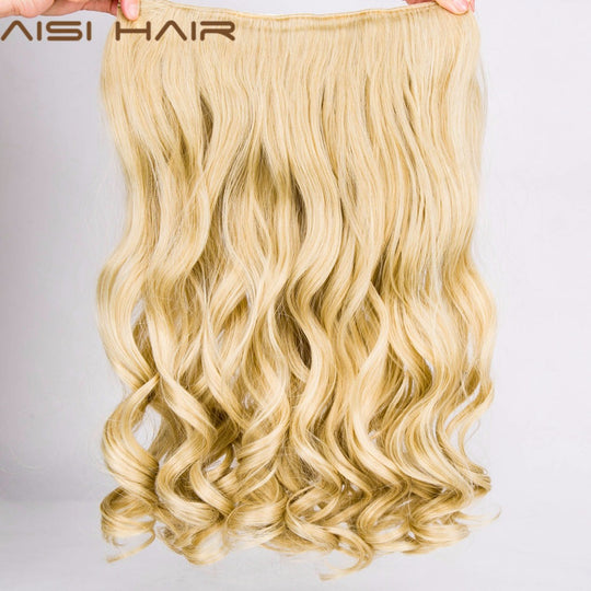 "AISI HAIR 22"" 17 Colors Long Wavy High Temperature Fiber Synthetic Clip in Hair Extensions for Women-WeaveKINGDOM.com"