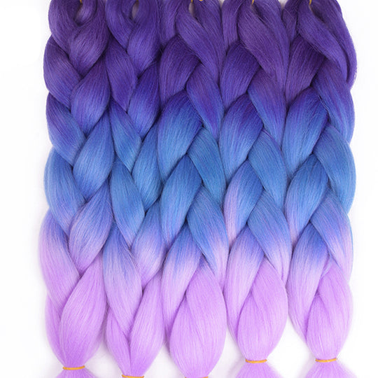 "TOMO Hair 24"" Ombre Kanekalon Jumbo Braiding Hair Synthetic Crochet Braid Hair Extensions 100g-WeaveKINGDOM.com"