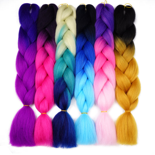 Silky Strands Ombre Kanekalon Jumbo Synthetic Braiding Hair Crochet Blonde Hair Extensions Jumbo-WeaveKINGDOM.com