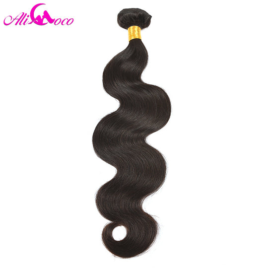 Ali Coco Hair Brazilian Body Wave Hair Extensions 10-28 inch 100% Human Hair Weave Bundles 1 Piece-WeaveKINGDOM.com