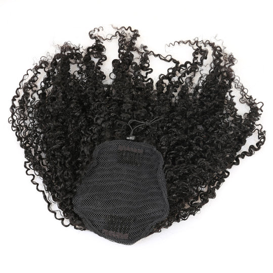 3B 3C Kinky Curly Clip In Ponytail Human Hair Extensions Brazilian Hair Products Pony Tail Natural-WeaveKINGDOM.com