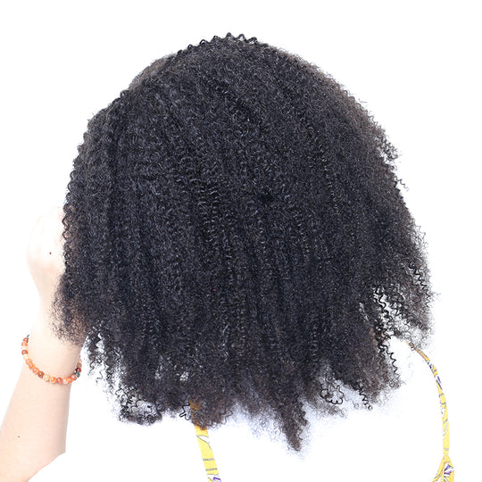 Clip In Human Hair Extensions 4B 4C Mongolian Afro Kinky Curly Clip Ins Remy Human Hair Full Head-WeaveKINGDOM.com