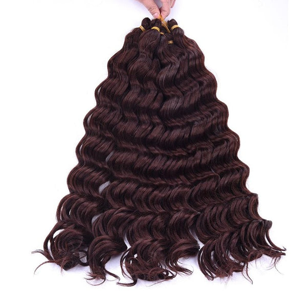 "WK 22"" Dark Blonde Synthetic Ombre Braiding Hair Extensions Water Wave Crochet Braids Hair Bundles Bug Blonde 80g/pack 1pc-WeaveKINGDOM.com"