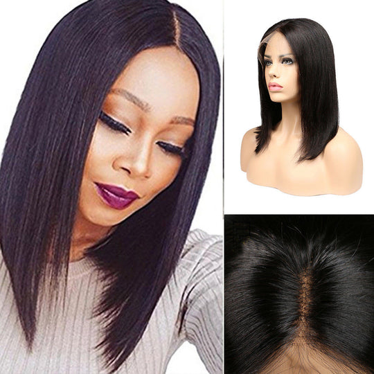 100% Lace Front Human Hair Bob Wigs Brazilian Wigs Women Short Hair Wig-WeaveKINGDOM.com