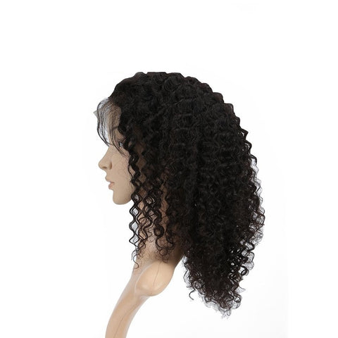 130%Density Deep Curly Glueless 360 Lace Frontal Wigs Pre Plucked Hairline New Star Virgin Human - WeaveKINGDOM.COM