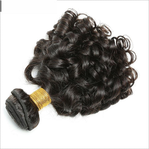 "Spark Brazilian Bouncy Curly Hair Bundles 1 Piece Human Hair Weave 8""-26"" non Remy Hair Extensions-WeaveKINGDOM.com"