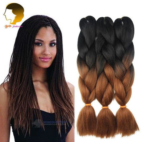 10 Pieces Ombre Kanekalon Braid Hair Jumbo Twist Expression Braiding Hair Extension Synthetic-WeaveKINGDOM.com