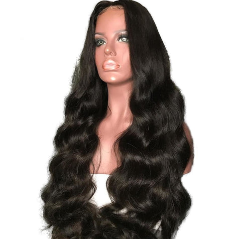 Luffy 180% Density Pre Plucked 13*6 Long Space Lace Front Human Hair Wigs With Baby Hair Peruvian-WeaveKINGDOM.com