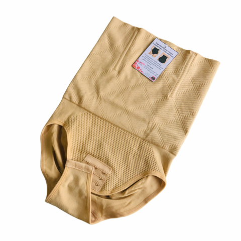High Waist Tummy Control Postnatal Panty Girdle with Hook- Nude