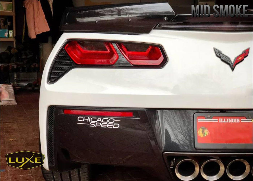 2014+ C7 Corvette Tail Light Tint Kit (Center Overlays)