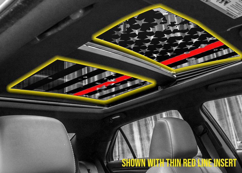 USA Flag Panoramic Sunroof Decal for 2011+ Chrysler 300 - Luxe Auto Concepts