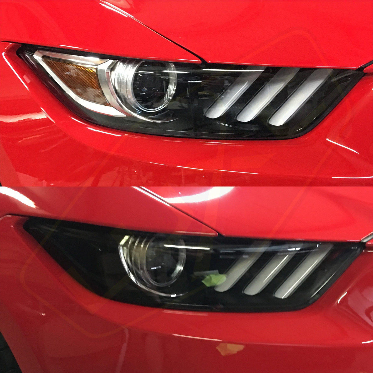 2015 17 mustang headlight reflector tint kit luxe auto concepts