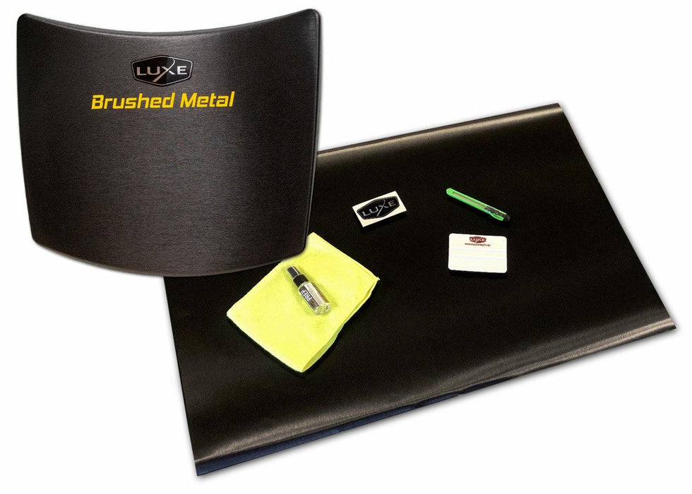 Universal Vinyl Sheet Wrap Kit - 3M Black Brushed Metal - Luxe Auto Concepts