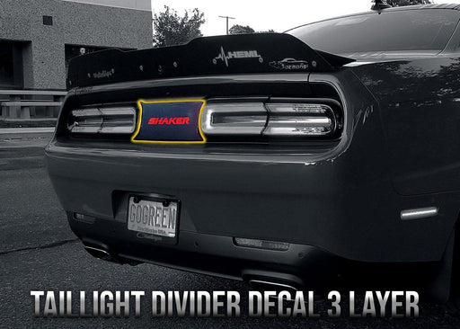 2015+ Challenger Taillight Divider Decal - 3 Layer