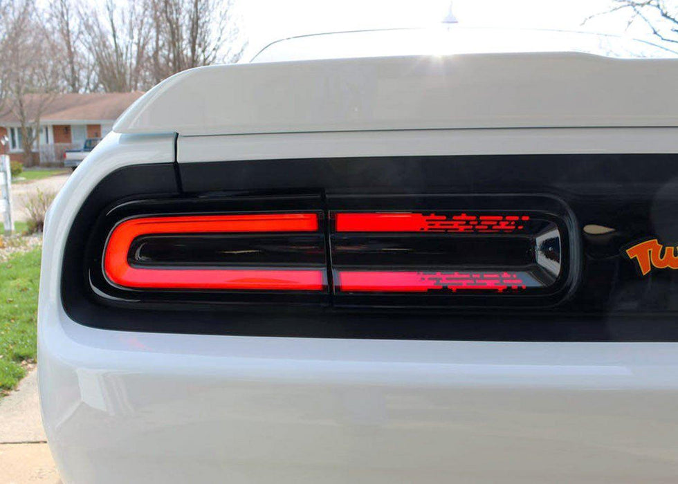 2015+ Challenger Racetrack Taillamp Decals - Inner