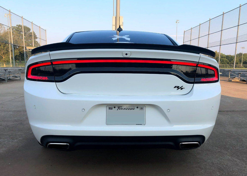 Charger Racetrack Taillamp Decal - Type 2 (Lower Blackout) - Luxe Auto Concepts