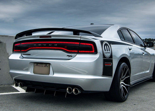 2011-14 Charger Tail Light Tint Kit - Type 1 (Center Overlay) - Luxe Auto Concepts