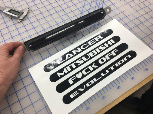 tint kit vinyl decal overlay diy lancer rear reflector