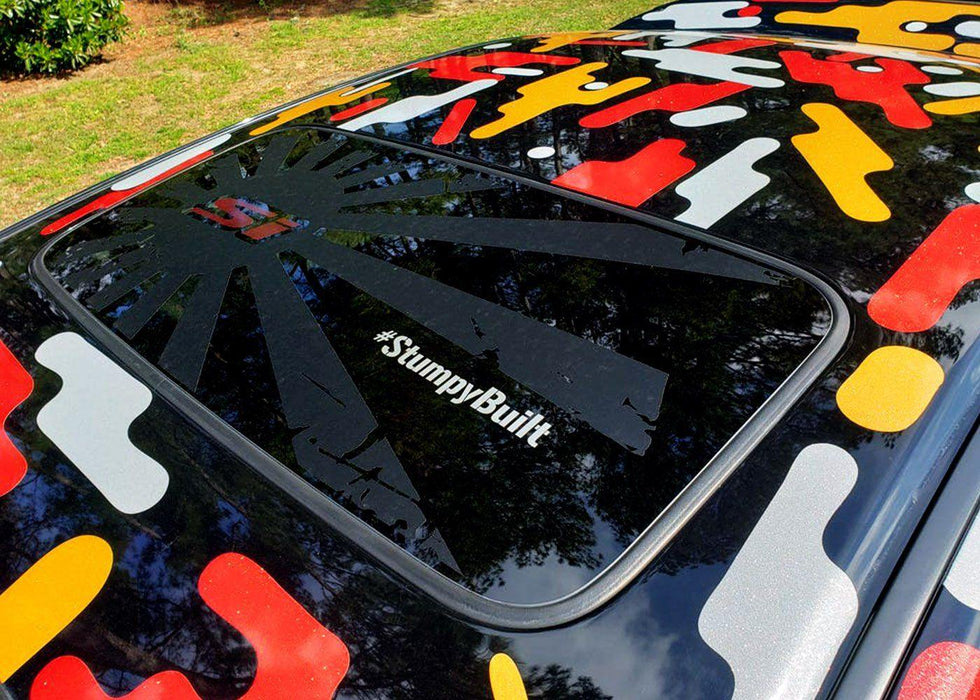 Honda Civic Sunroof Decal - Distressed Rising 'H'