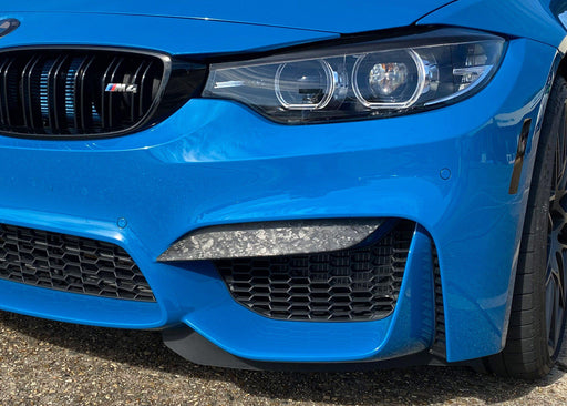 2014-2020 BMW M4 Front Bumper Upper Splitter Decals - Luxe Auto Concepts