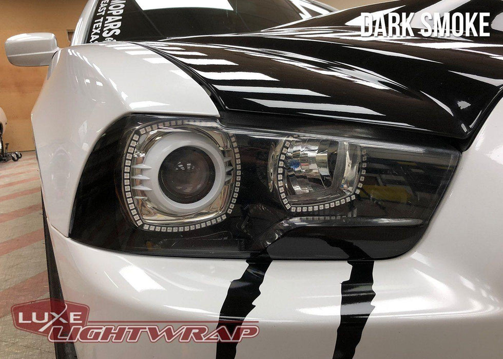 2011-14 Charger Head Light Tint Kit - Type 1 (Overlays) - Luxe Auto Concepts