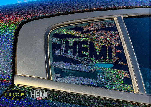 HEMIFAM LTD. 2011+ Charger Rear Side Window Flag Decal