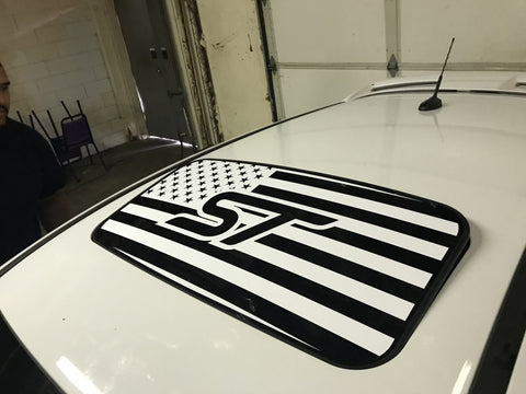 2012+ Ford Focus ST U.S.A. Flag Sunroof Decal