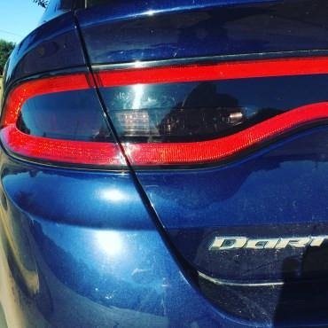 dodge dart tail light tint kit decal overlay smoke