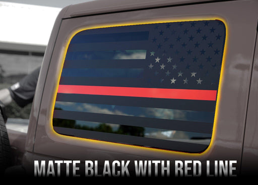 2018+ Jeep Wrangler Rear Side Window Flag Decal