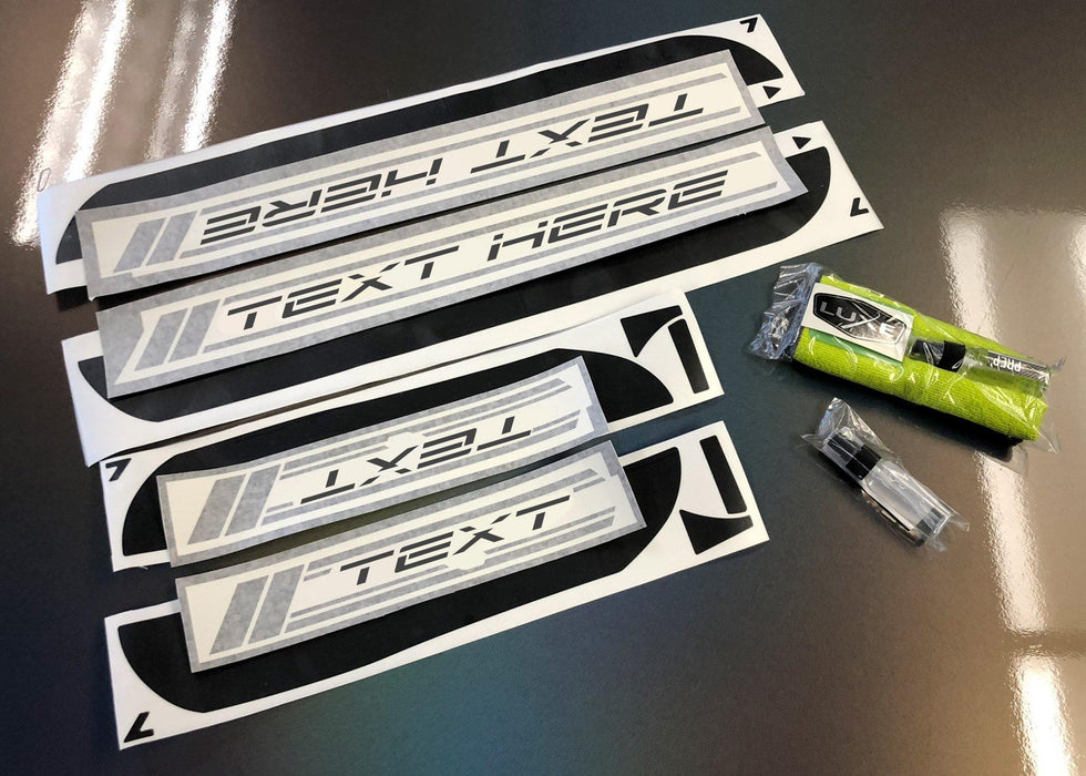 2011+ Charger Door Sill Decal Kit - Multi-Layer