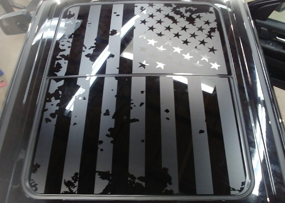 USA Flag Panoramic Sunroof Decal for Dodge Ram