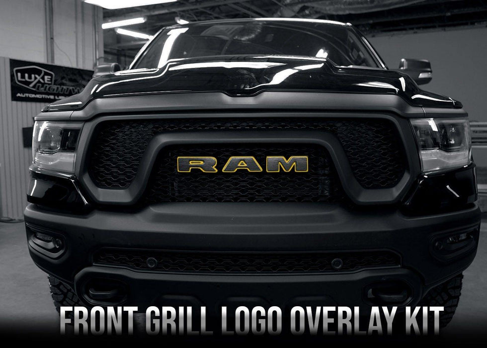 2019+ Dodge RAM 1500 Front Grill Text Logo Overlay Kit