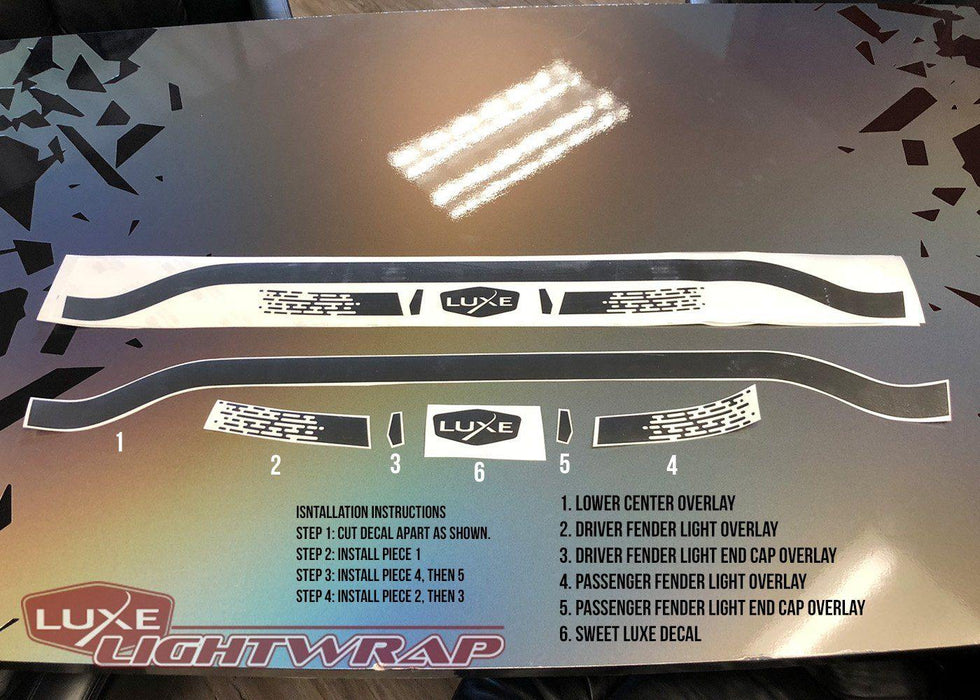 Charger Racetrack Taillamp Decal - Type 2 (Lower Blackout)