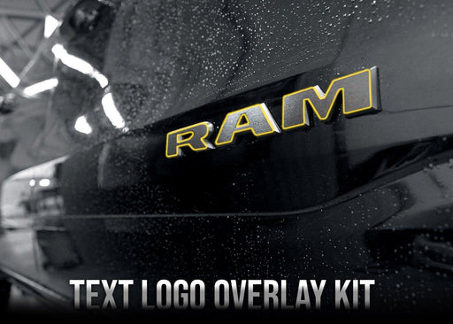 2019+ Dodge RAM 1500 Text Logo Overlay Kit Bundle