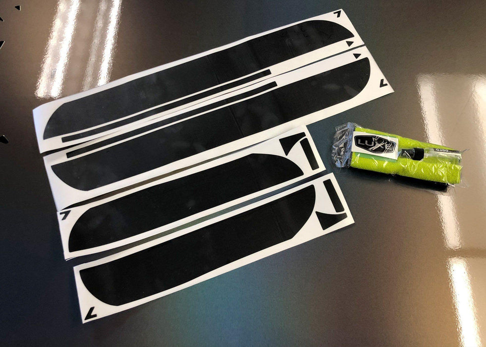 2011+ Charger Door Sill Decal Kit - Solid Layer Only - Luxe Auto Concepts