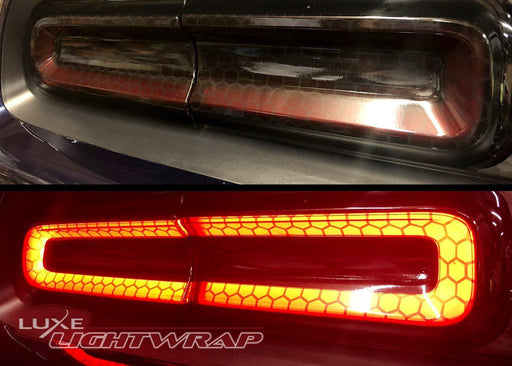 Luxe LightWrap FX Mid Honeycomb tinted challenger taillight
