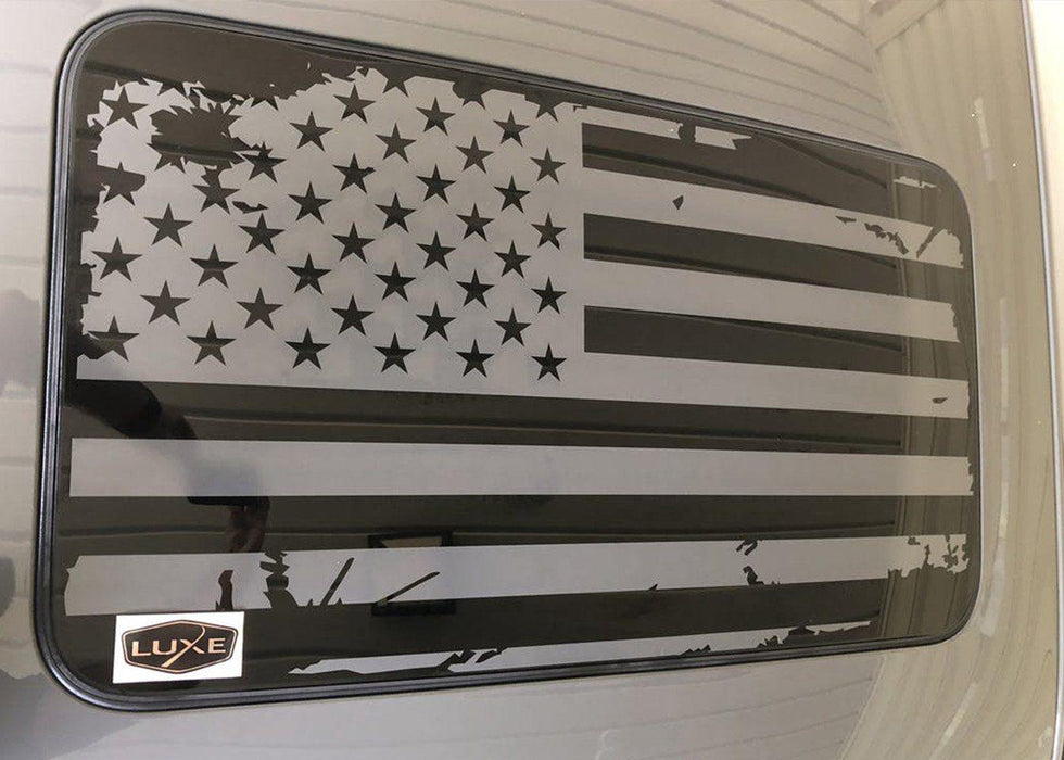 USA Flag Sunroof Decal for Dodge Vehicles