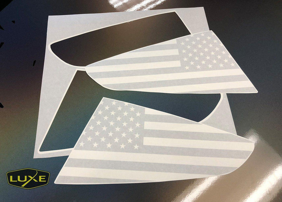 2015+ Mustang Quarter Window Flag Decal Kit