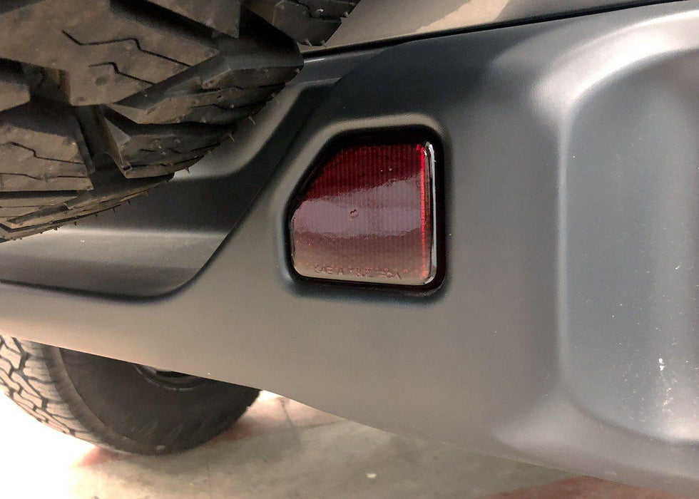 2018+ Jeep Wrangler JL Rear Reflector - Overlay Tint Kit