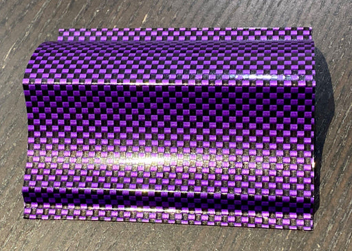 Luxe Hyper Real Carbon Fiber Vinyl - Purple Black 2k Plain Weave