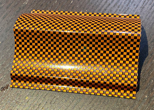 Luxe Hyper Real Carbon Fiber Vinyl - Orange Black 2k Plain Weave