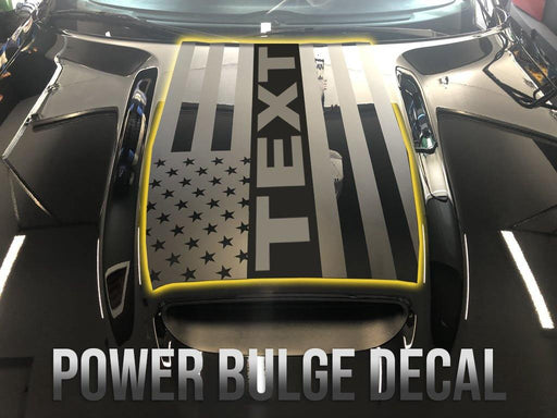 2015+ Challenger Power Bulge Decal - Graphic Design - Luxe Auto Concepts