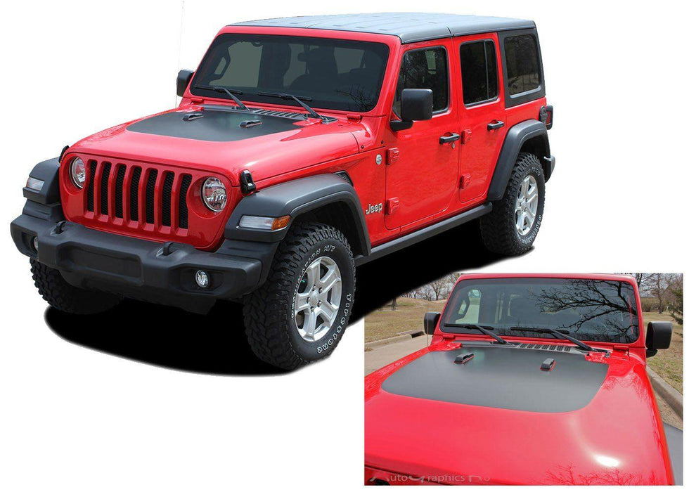 2018+ Jeep Wrangler Sport Hood Stripe Decal - Luxe Auto Concepts