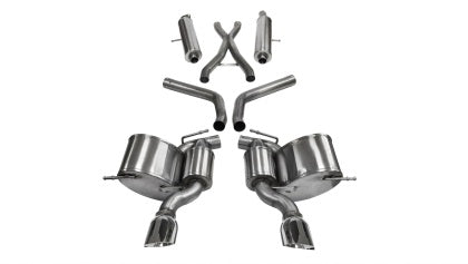 Corsa 12-18 Jeep Grand Cherokee 6.4L V8 Sport Cat-Back Exhaust