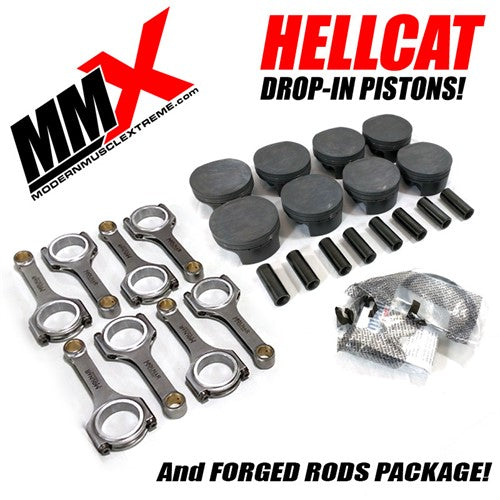 Hellcat 6.2L HEMI Forged Drop-In Pistons and Rods Package