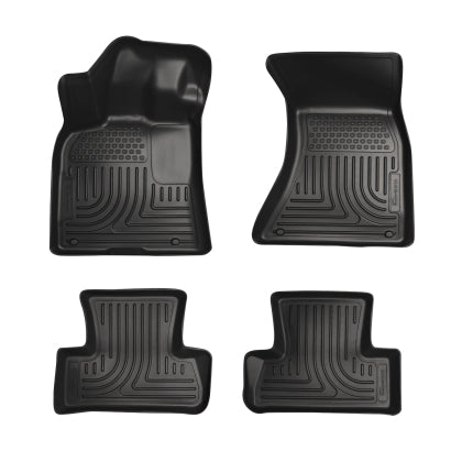 Husky Liners 2011-18 Dodge Charger/Chrysler 300 WeatherBeater Combo Black Floor Liners