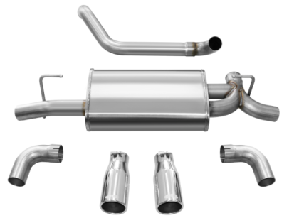 "Corsa Jeep Wrangler JL 2018+ Axle-Back Sport Exhaust System 2-1/2"" Polished Dual Exit 21014"