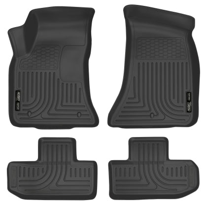 Husky Liners 2016+ Dodge Challenger Front and Second Row Black Floor Liners