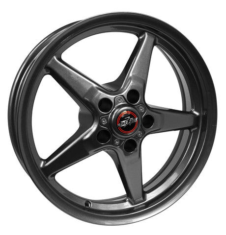 RACESTAR 17×9.5 92 Drag Star Bracket Racer Dodge Metallic Gray