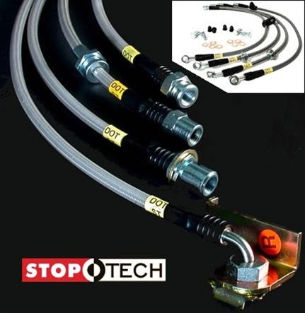 StopTech Stainless Steel Braided Brake Lines, Front & Rear Complete Set, 5.7L HEMI Magnum, Charger, Challenger & 300C